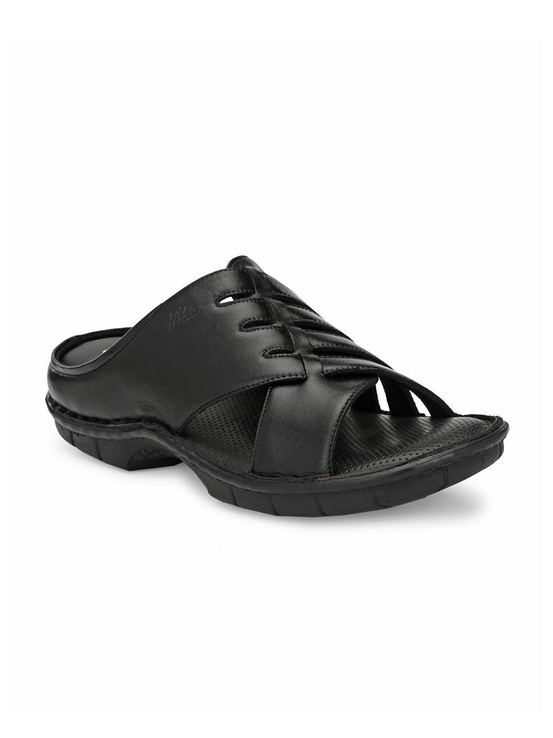 Hitz Rocco Black Sandals For Men