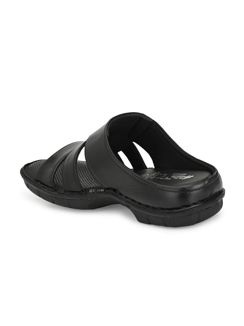 Hitz Luciano Black Sandals For Men
