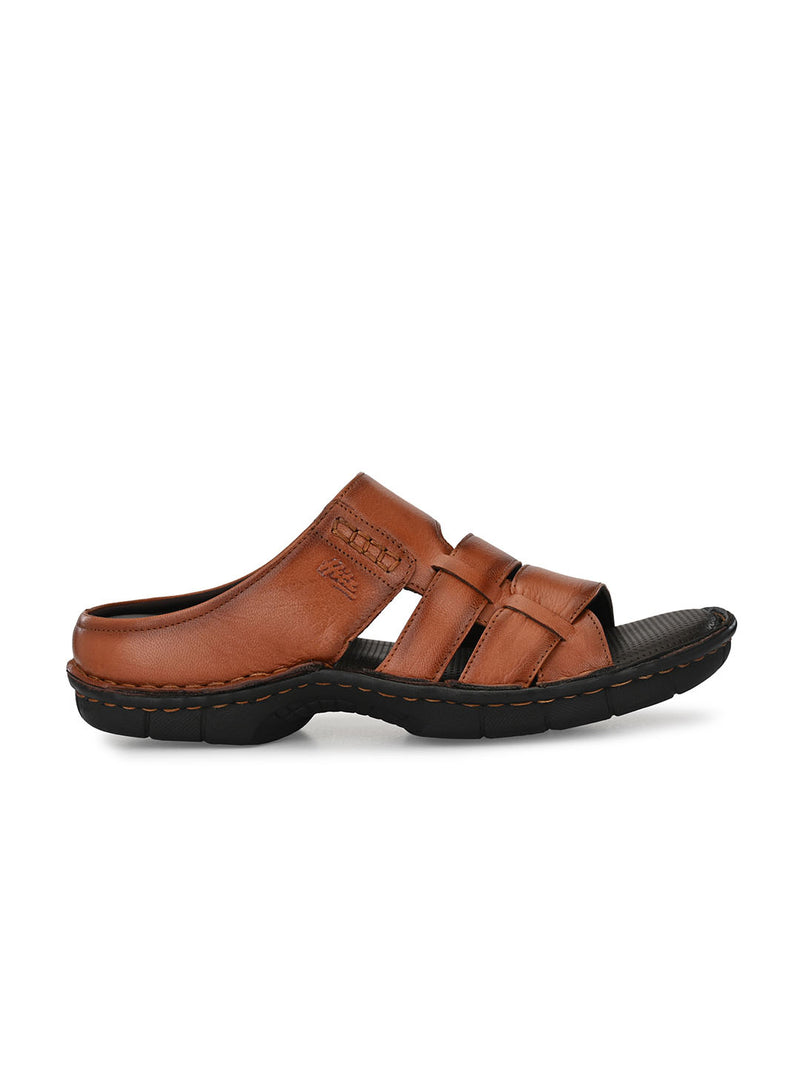 Hitz Luciano Tan Sandals For Men