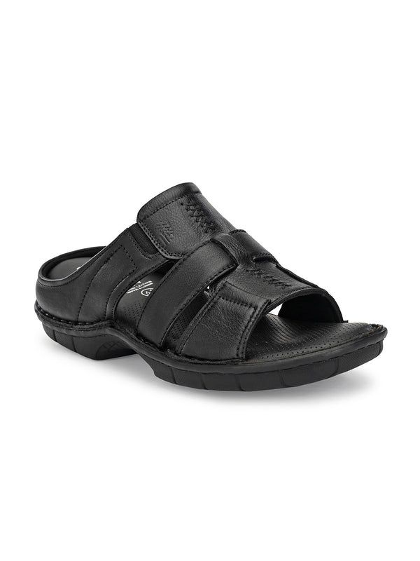 Hitz Santino Black Sandals For Men