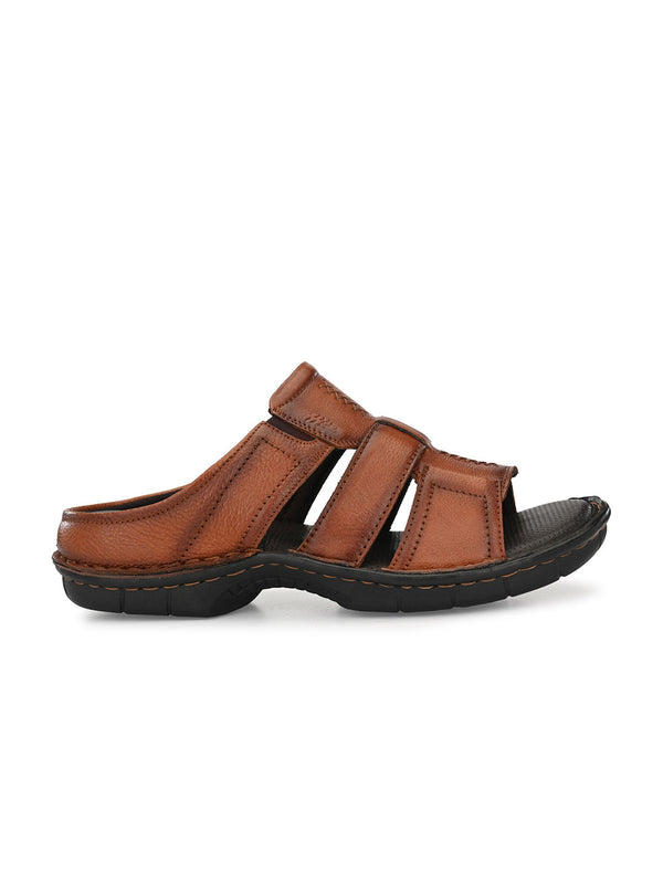 Hitz Santino Tan Sandals For Men