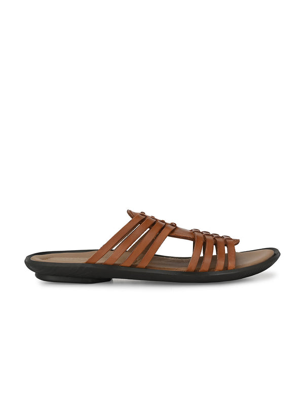Hitz Arturo Tan Sandals For Men