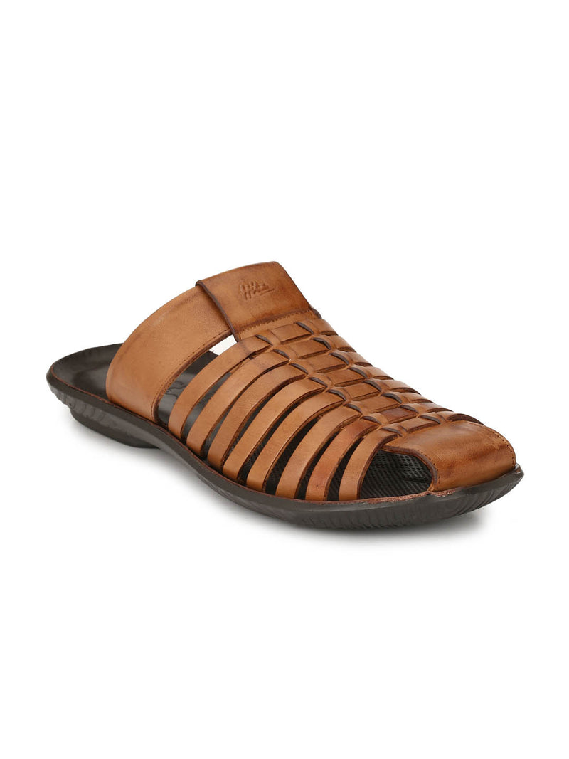 Marcos - 9791 Tan Leather Slippers