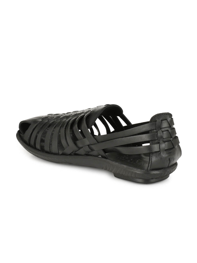 Marcos - 9792 Black Leather Sandals