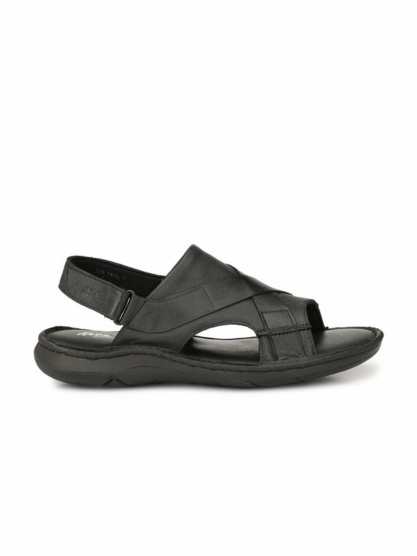 Pellegrini - 9806 Black Leather Sandals