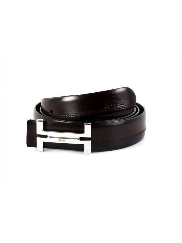 Bs 3017 Brn+Blk Leather Belts