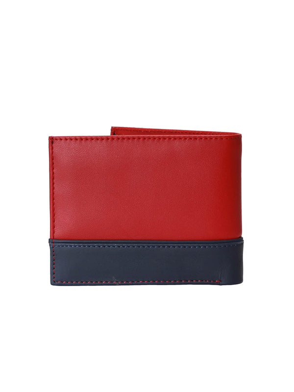 BS-3017 RED/BLUE LEATHER WALLETS