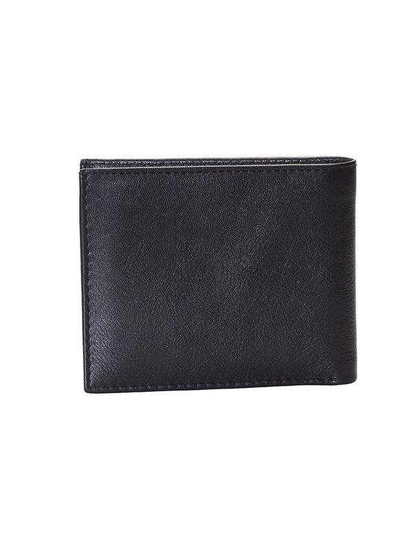 BS-3024 BLACK/RED LEATHER WALLETS