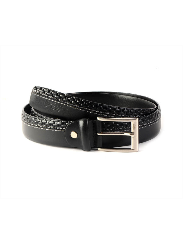 Bs 718 Black Leather Belts