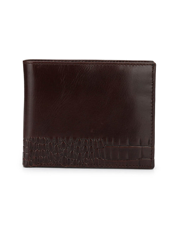 BS-CROCO-1568 BLACK LEATHER WALLETS