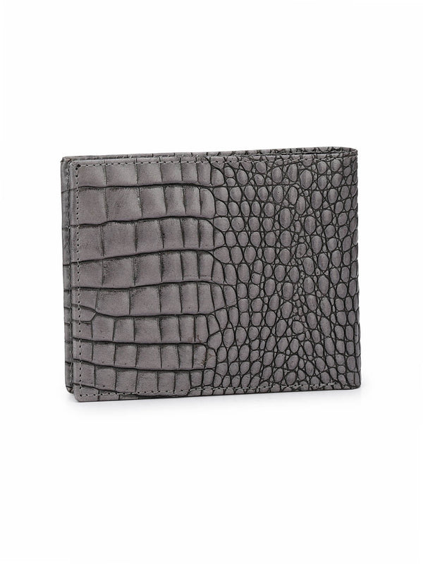 BS-CROCO-1568 GREY LEATHER WALLETS