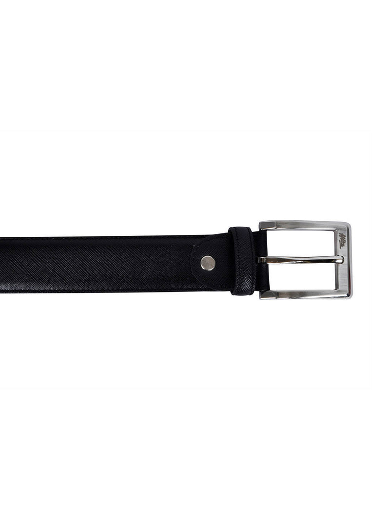 Cftd Saffiano Black Leather Belts