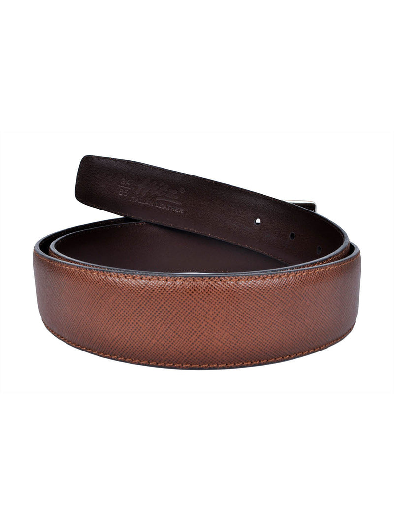 Cftd Saffiano Brown Leather Belts