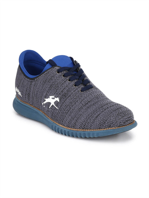 Blue Lace-Up Smart Casual Shoes for Men