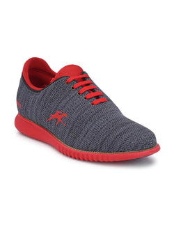 Co-1A Blue + Red Casual Shoes