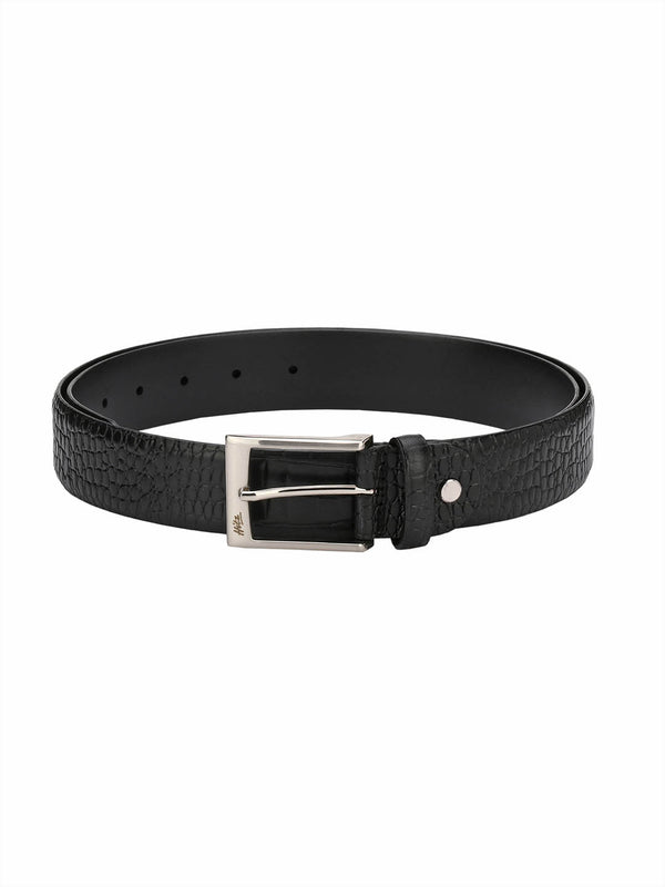 Croco 1568 Black Leather Belts