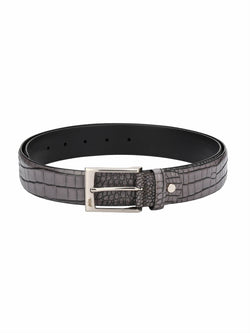 Croco 1568 Grey Leather Belts