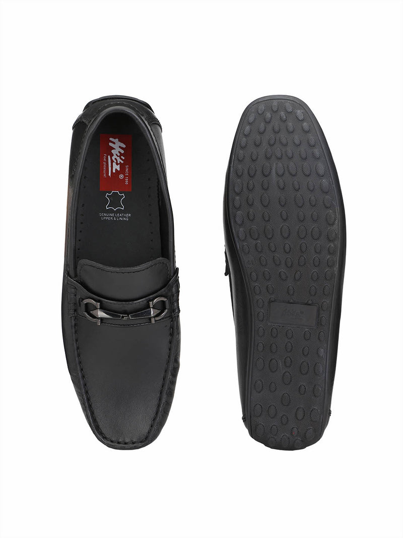 Flipy - F 10 Black Leather Loafers