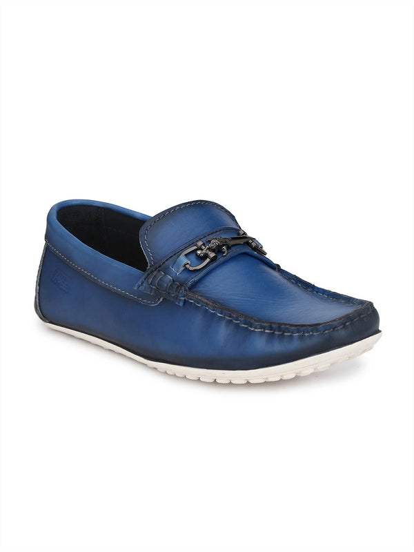 Flipy - F 10 Blue Leather Loafers