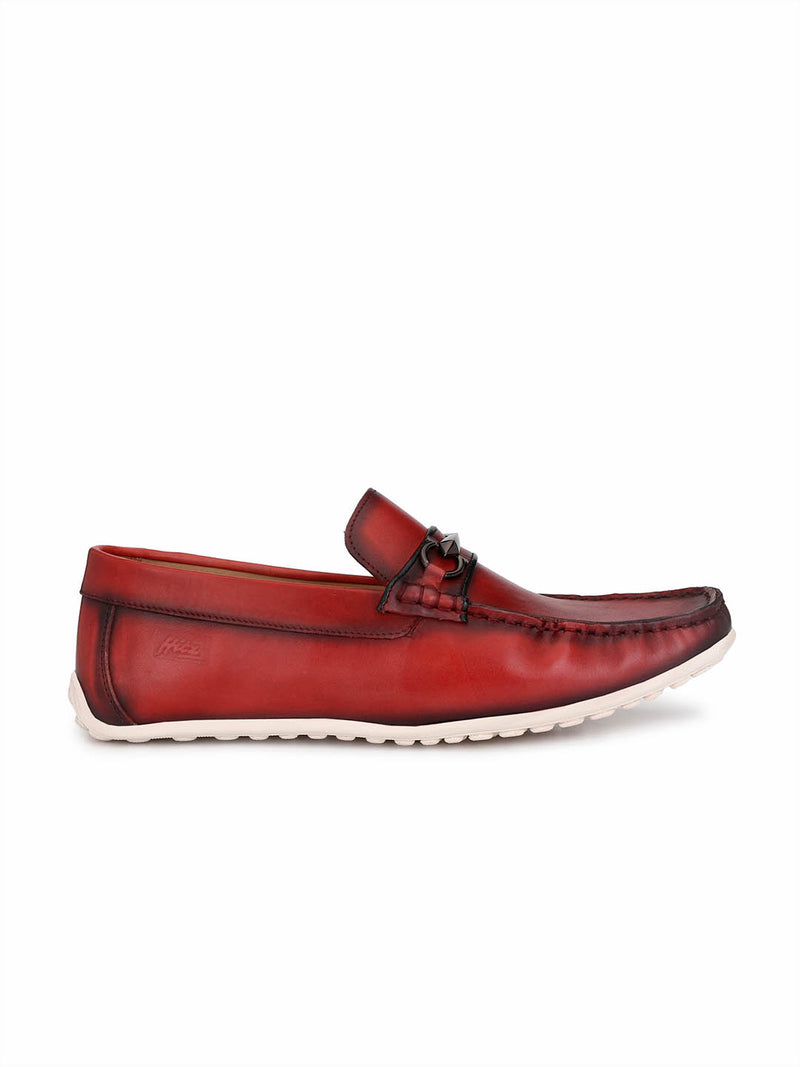 Flipy - F 10 Red Leather Loafers