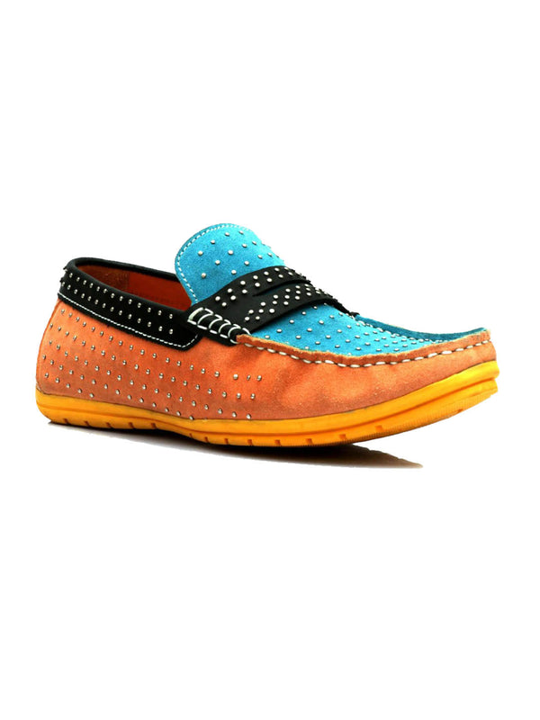 Flipy - F 51 Orange + Blue Loafers