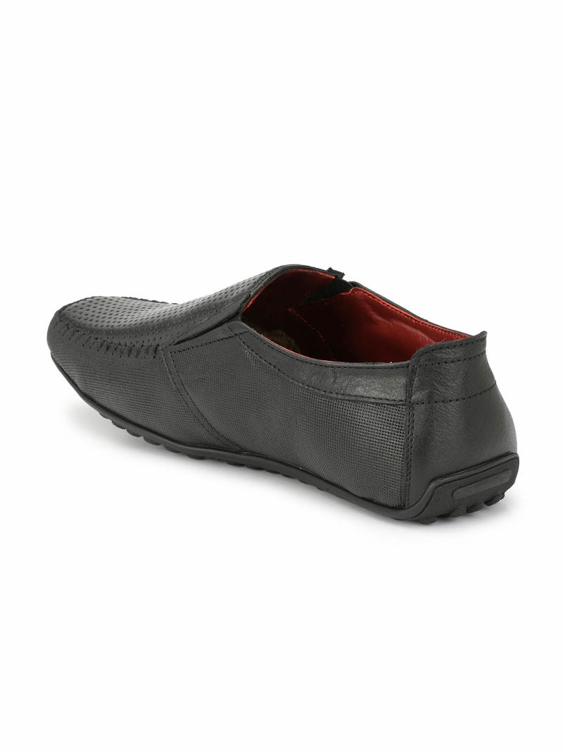 Flipy - F 9 Black Leather Loafers
