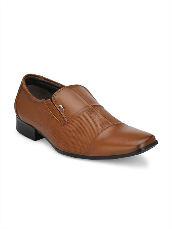 Hitz Vegan Tan Formal Slip-On Shoes Men