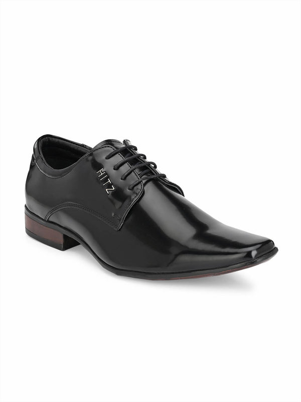 Hitz Vegan Black Formal Derby Shoes Men