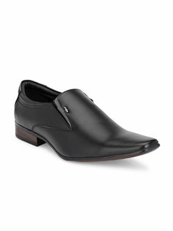 Hitz Vegan Black Formal Slip-On Shoes Men