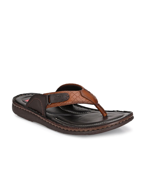 Hitz Kumoto Tan+Brn Slippers For Men