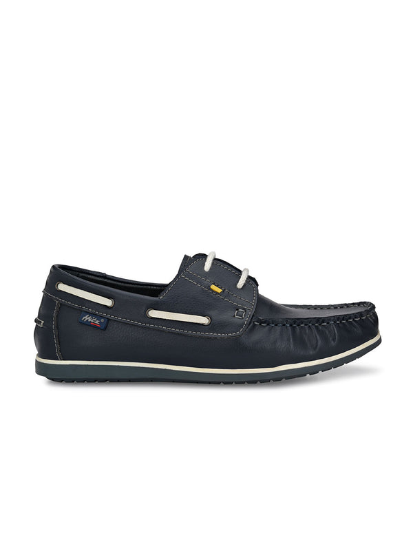 Hitz Hulia Blue Boat Shoes For Men