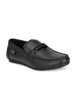 Hitz Kumoto Black Loafers For Men