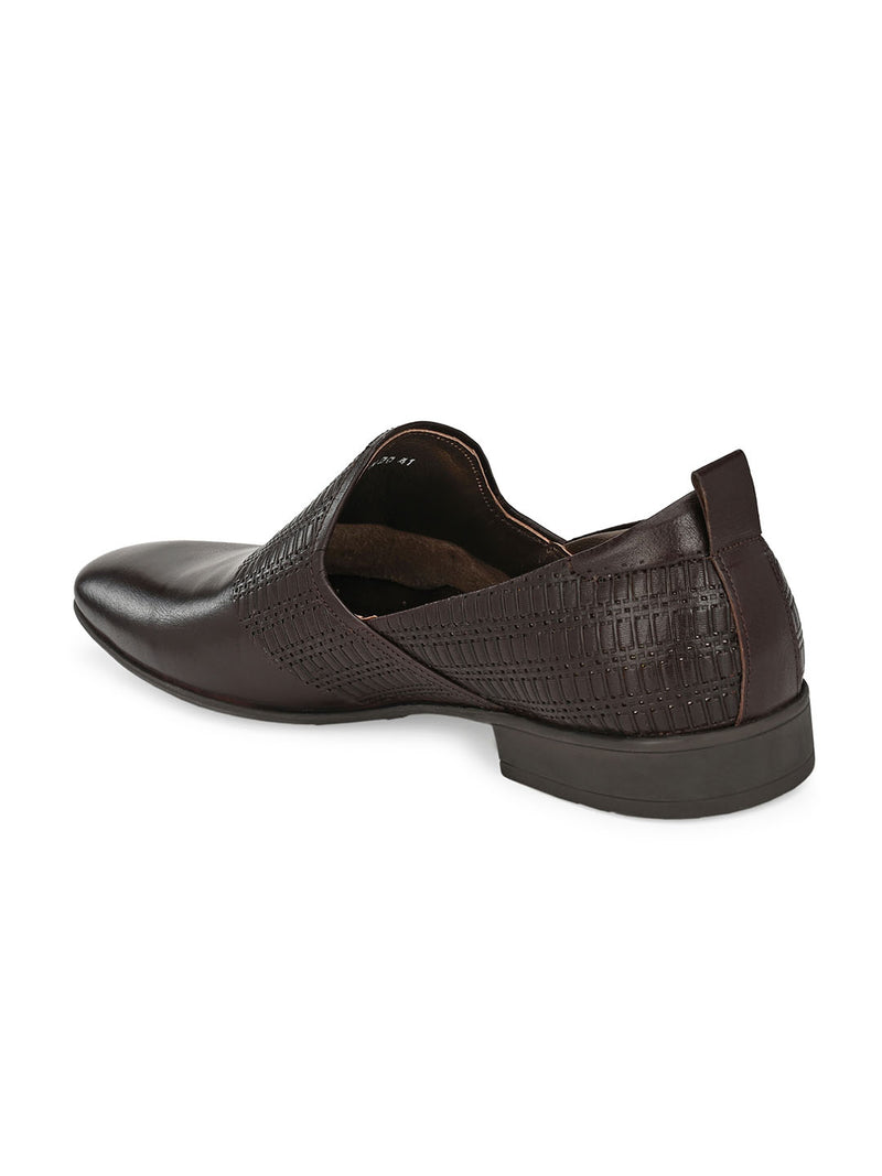 Hitz Brown SLIP ON FORMAL SHOES