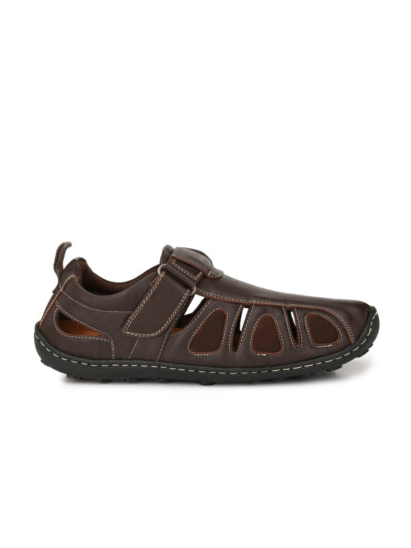 Pav 2 Brown Leather Sandals