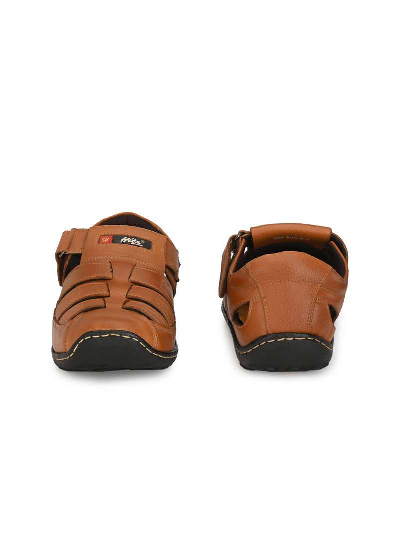 HITZ Tan Fisherman TAN Leather Sandals