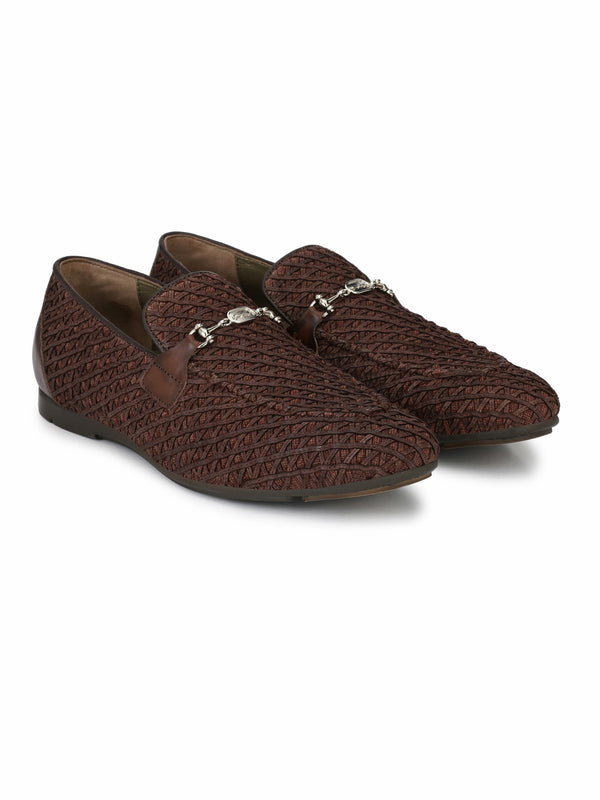 Hitz Brown Slip-on Luxure Shoes