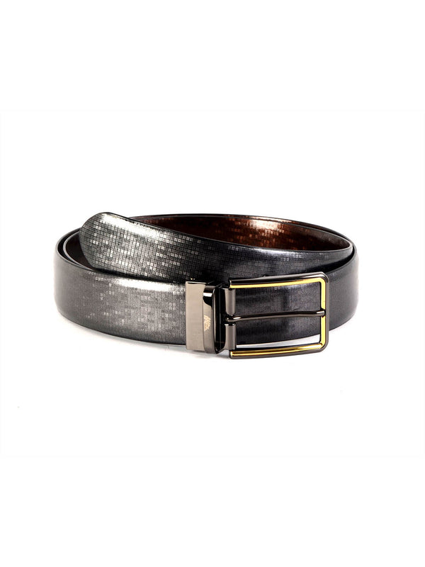 Rb 5142B Blk/Brn Leather Belts