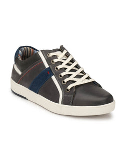 Sneakers - Sn 1 Grey Leather Shoes