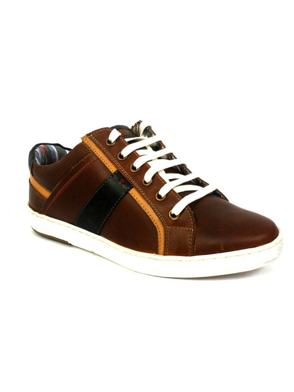 Sneakers - Sn 1 Tan + Black Leather Shoes