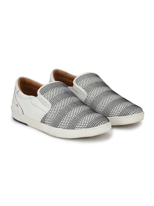 Hitz White Slip-on Luxure Shoes