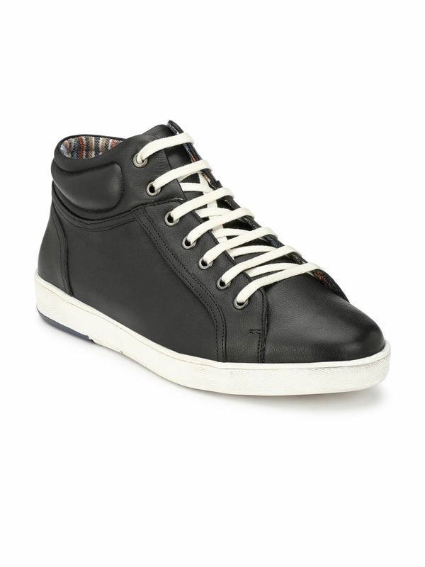 Sneakers - Sn 5 Black Leather Shoes