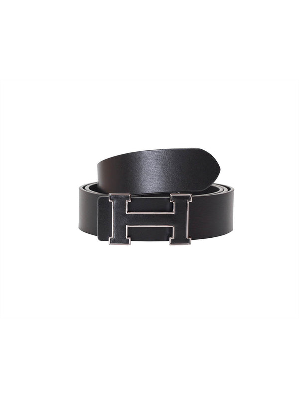 St 404 Black Leather Belts