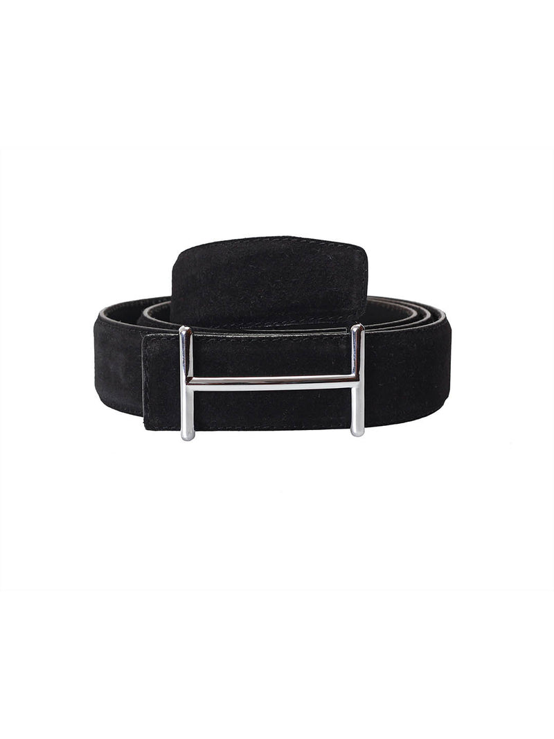 Suede Black Leather Belts