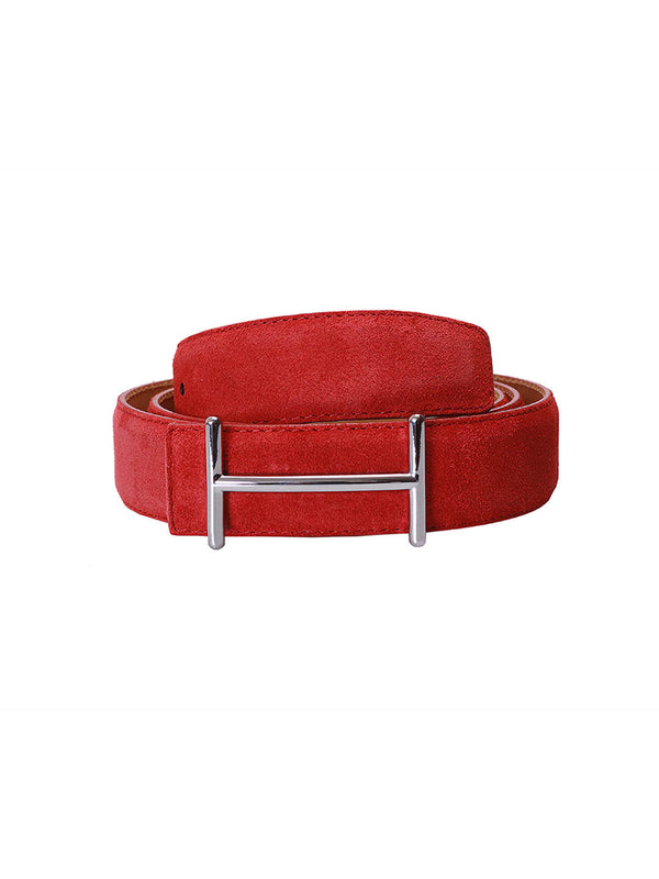 Suede Red Leather Belts
