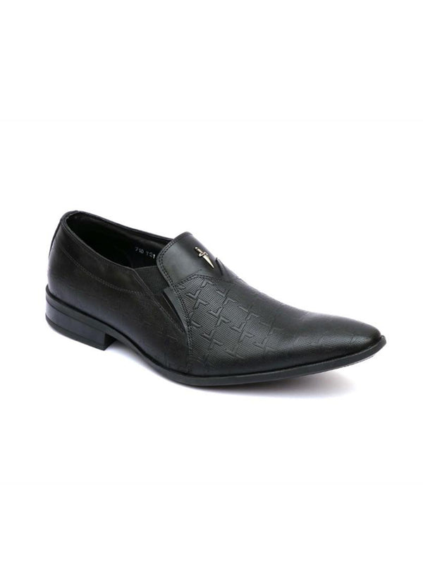 Formal cum Casual Black Leather Shoes Men