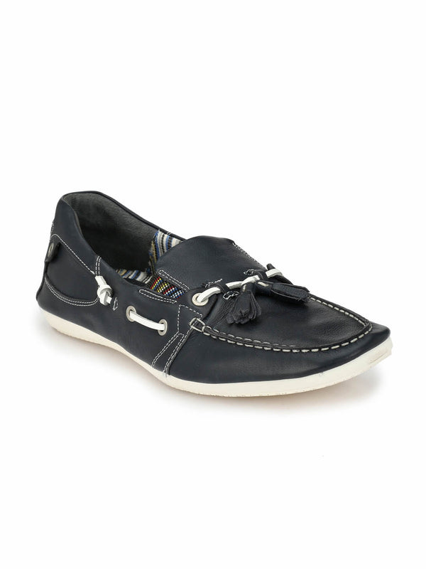 Twisted - Ts 1 Blue Leather Loafers