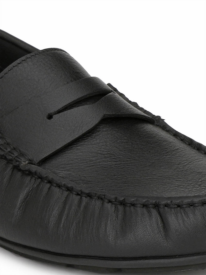 Men's Black Leather Moccasins from Hitz