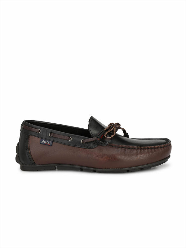 Wilson - W 11 Brown + Black Leather Loafers