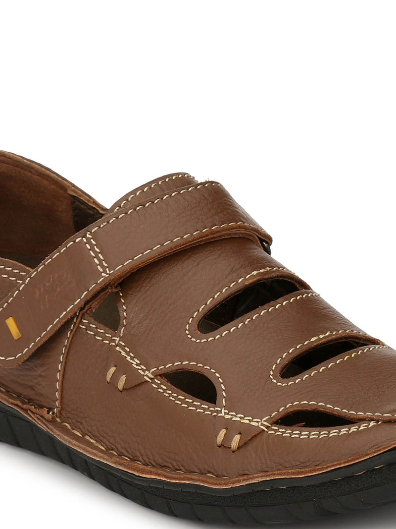 Astrix - X 1 Tan Leather Sandals
