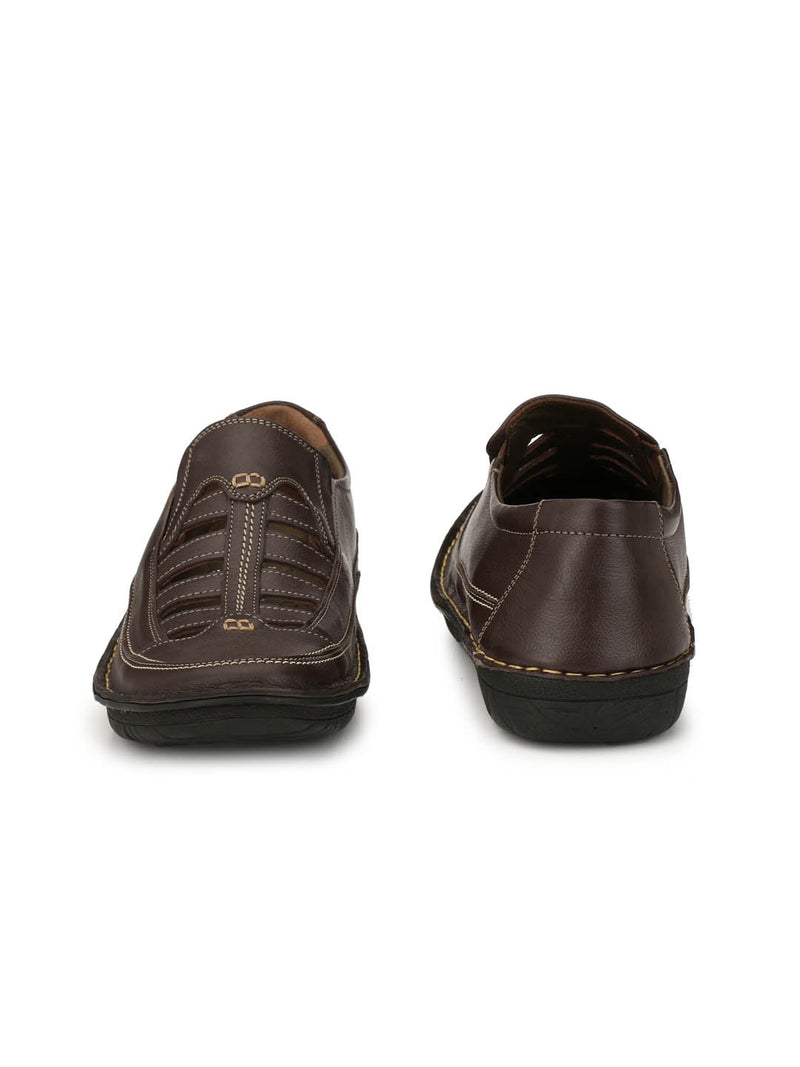 Astrix - X 2 Brown Leather Sandals